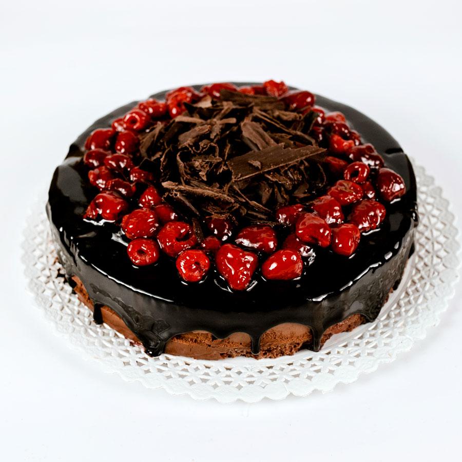 Tort ciocolata zmeura (mousse) - Cofetaria Arta